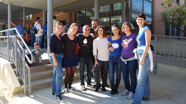 Familias del CEIP Europa que trabajarán en las obras - L. M.