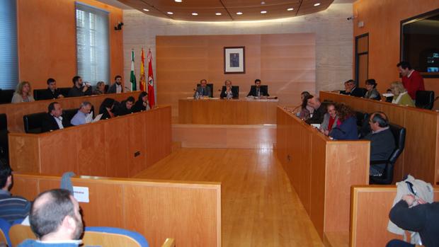 Pleno del Ayuntamiento nazareno, este pasado viernes - L.M.