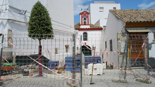 Obras en la capilla de Santa Ana / L.M.