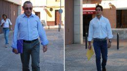 Agustín Morón y Luis Paniagua a su llegada a los juzgados / L.M.