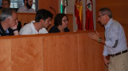 Los populares durante el último Pleno / L.M.