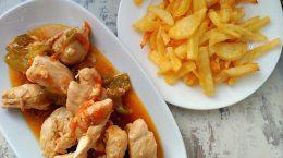 pechugas de pollo en salsa cerveza-contra