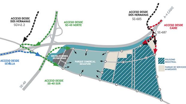 Plano del lugar en el que se construirá Megapark - ABC